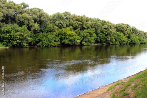 Fotobehang Lente A calm summer river