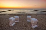 Sunset at German Baltic Sea beach - 182867729