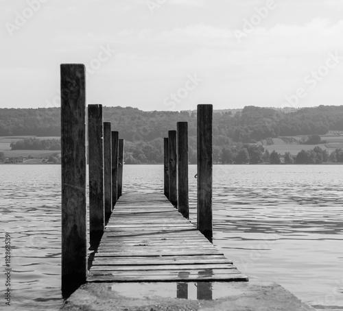 Plexiglas Pier Bootssteg am Wasser