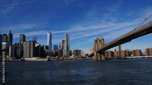 Foto op Aluminium Brooklyn Bridge Skyline of New York City from Brooklyn Bridge Park