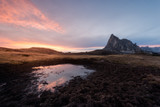 sunset in passo giau