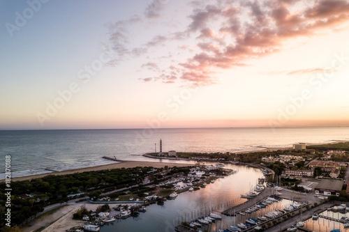 Foto op Canvas Zee zonsondergang jesolo sunset