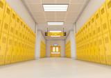 Yellow School Lockers Light - 182874192