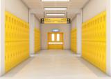 Yellow School Lockers Light - 182874561