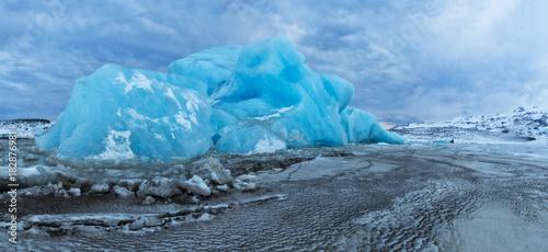 Iceberg lagoon in Fjallsarlon, Iceland
