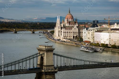 In de dag Boedapest Budapest Hungary landmark