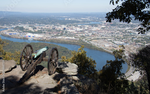Fotobehang Zwart Chattanooga from Lookout Mountain
