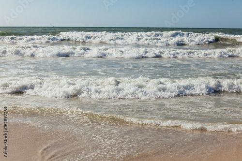 Poster Wellen auf dem Strand