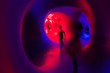 Dream sequence in abstract tunnel to heaven or hell. possible out of body