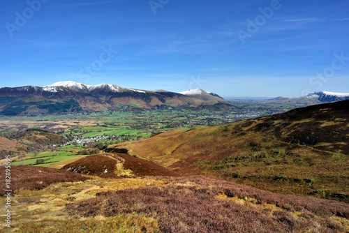Skiddaw and Blencathra from Stile End