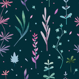 Seamless pattern, with delicate leaves. Background, design. Textiles, prints