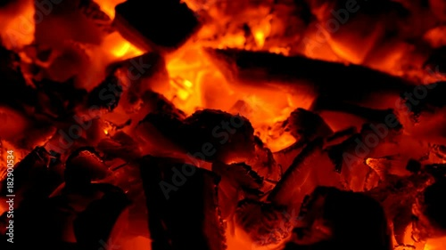 Burning flame in bonfire. Nobody