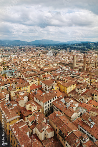 Foto op Canvas Florence Scenic Skyline View of Florence Firenze City