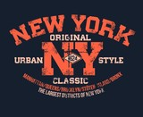 T-shirt typography print New York urban theme serigraphy stencil cool vector design classic vintage template - 182904519