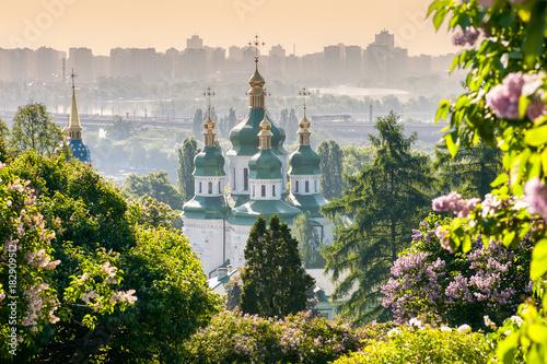 Foto op Canvas Kiev Vydubychi Monastery view