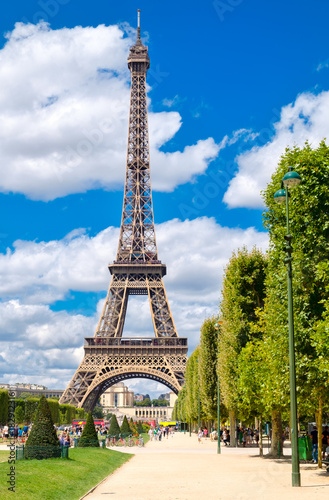 The Eiffel Tower on a sunny summer day in Paris Poster