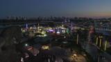 Aerial night drone footage Youth Fair Broward County 4k - 182914354