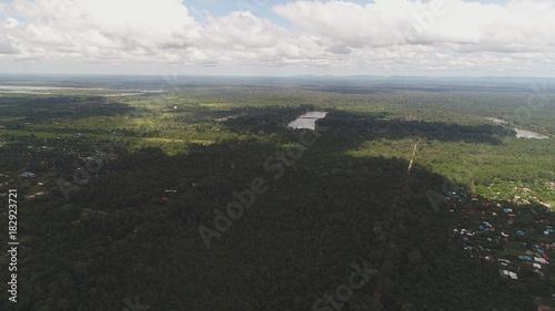 Foto op Plexiglas Khaki Cambodge Autour de Siem Reap vu du ciel