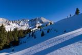 Mountains in Winter Landscape