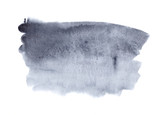 Blue grey watercolor stain for text and design - 182927516