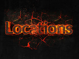Locations Fire text flame burning hot lava explosion background. - 182931152