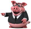 Fun pig - 3D Illustration - 182932514