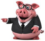 Fun pig - 3D Illustration - 182932514