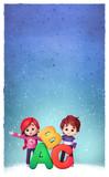 Niños con letras del abecedario - 182932901