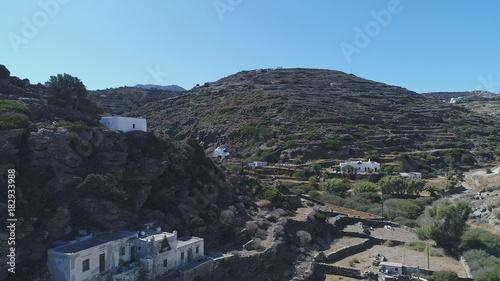 Foto op Plexiglas Grijze traf. Grèce Cyclades île de Sifnos Kastro vue du ciel