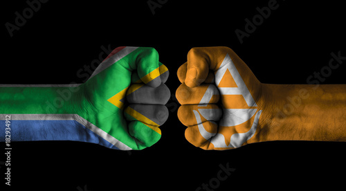 Deurstickers Antarctica Afrique du Sud vs Antarctica