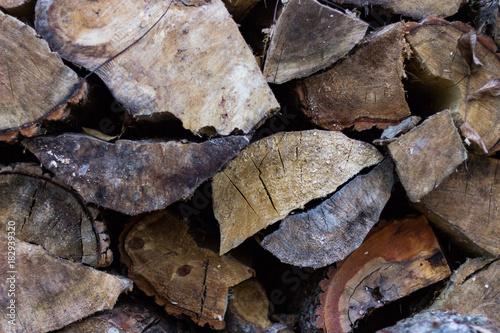 Staande foto Brandhout textuur Cut fire wood