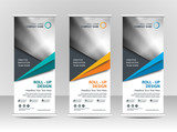 Roll up banner stand template design - 182939522