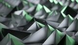 3D Rendering Of Abstract Background With Pyramids