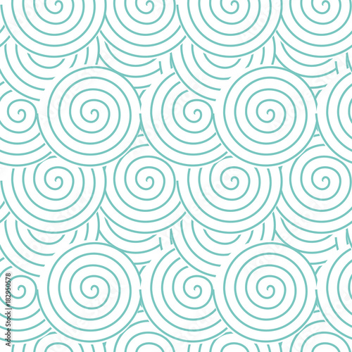 Spirals and swirls abstract geometric vector seamless pattern. - 182950578
