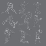 Sport mix - An hand drawn vector collection