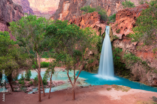 Deurstickers Arizona Havasu Falls in the Grand Canyon, Arizona.