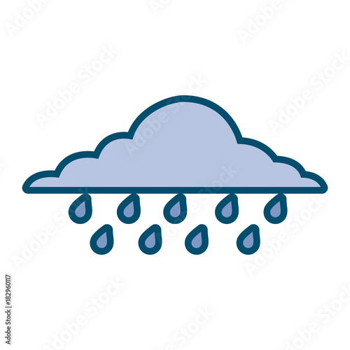 cloud rainy sky forecast storm isolated icon vector illustration