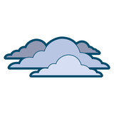 clouds sky climate overcast day scene vector illustration - 182960500