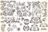 Huge set  of vector decorative elements for design - 182969545