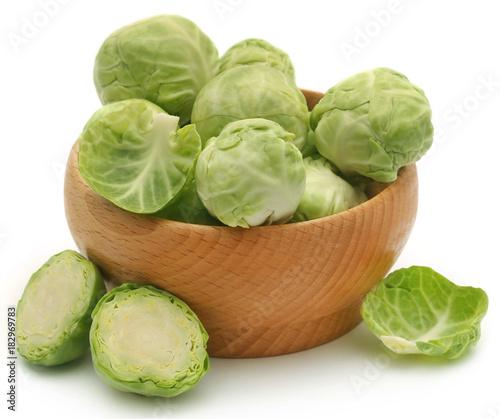Deurstickers Brussel Rosenkohl or Brussels sprout