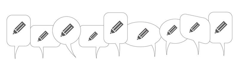 Sprechblasen - Bleistift