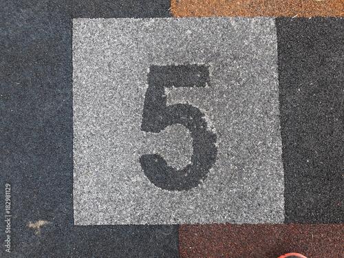 Staande foto Route 66 Numero 5 cinco