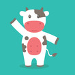 Cute Cow Vector - 182984390