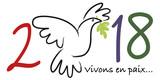 2018 - carte de vœux - colombe de la paix - paix - symbole - amour - vœux - message - fraternité - 182992911
