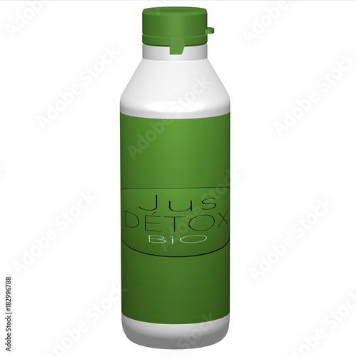 Plexiglas Sap jus détox vert