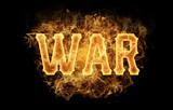 war word text logo fire flames design - 182997702