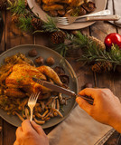 Eating chicken for Christmas - 183000380