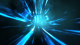Wormhole though time and space. Travel though this science fiction wormhole at warp speed 3d illustration - 183000755
