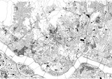 Strade di Seul, mappa della città, Corea del Sud, stradario - 183002310