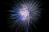 Celebrating happy new year with fireworks. - 183004791